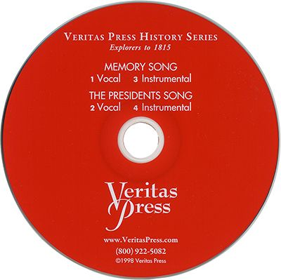 Explorers to 1815 Memory Song CD | Veritas Press