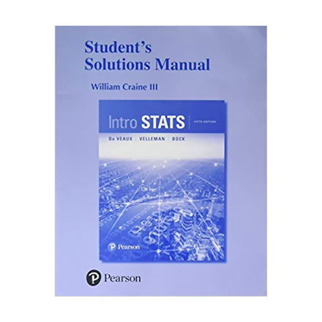 Intro Stats | Student Solutions Manual 4th Ed