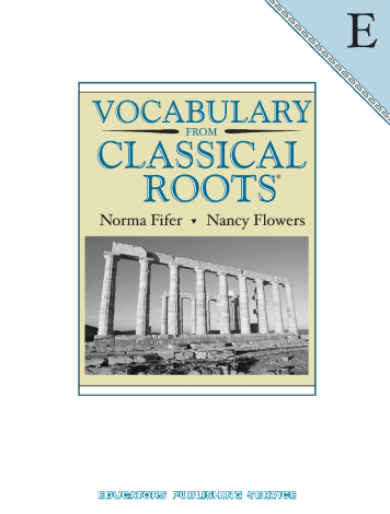 Vocab from Classical Roots E Student
