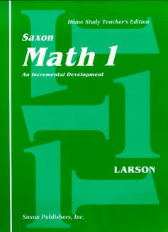 Saxon Math 1 Home Study Teacher's Manual