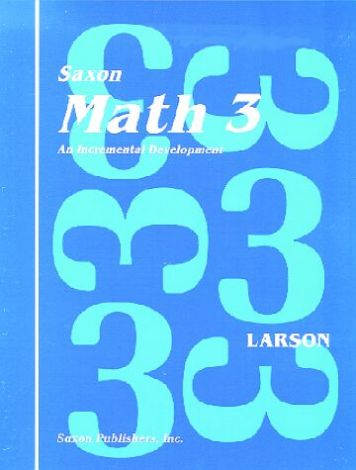 Saxon Math 3 Home Study Teacher's Manual, 1st Ed.
