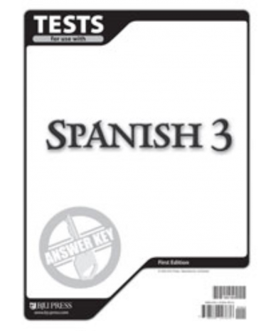 Spanish 3 Tests Answer Key - BJU