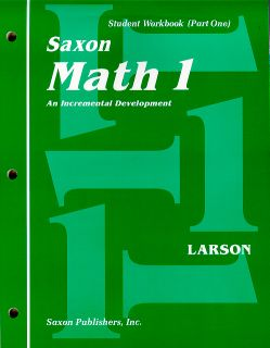 Saxon Math 1 Student Workbook and Fact Cards, 1st Ed.