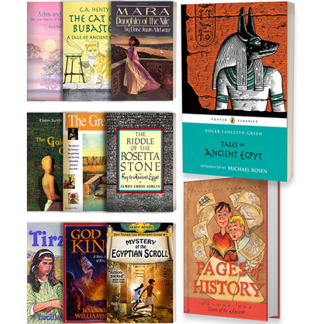 Old Testament & Ancient Egypt: Covers of the Level 2 Literature kit available from Veritas Press.