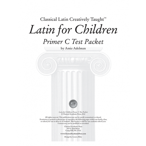 Latin for Children Primer C Test Packet - Veritas Press