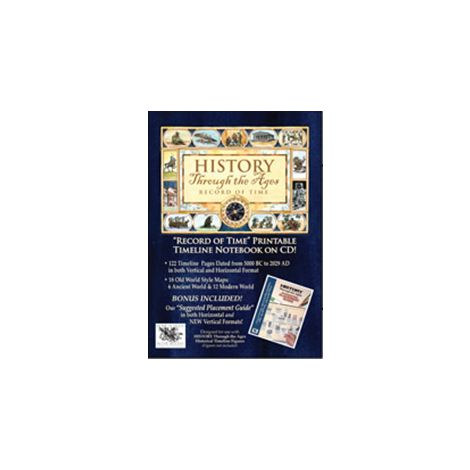 Cover: History Through the Ages: Record of Time - Printable Timeline Notebook on CD