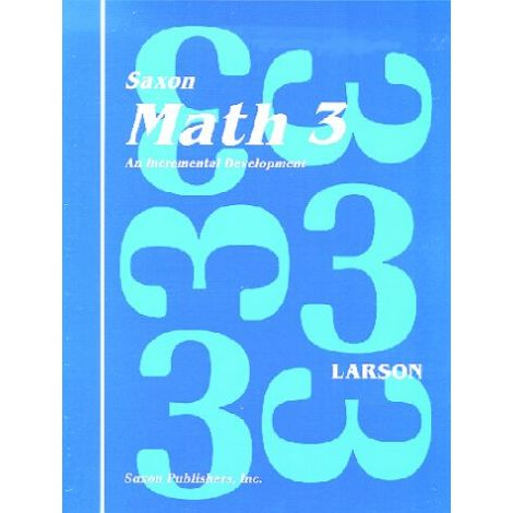 Saxon Math 3 Meeting Book, 1st Ed.