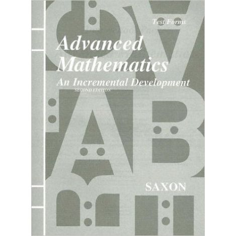 Saxon Advanced Math Homeschool Tests