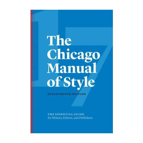 The Chicago Manual of Style, 17th Ed.