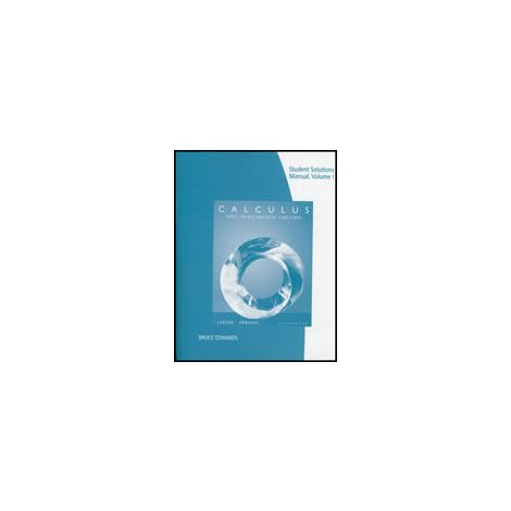 Cover: Calculus: Early Transcendental Functions Student Solutions Manual, Vol. 1