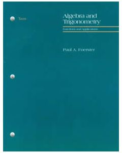 Algebra II and Trigonometry Tests by Foerster