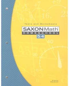Saxon Math 54 Homeschool Tests and Worksheets, 3rd Ed.