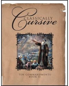 Classically Cursive Ten Commandments (eBook)